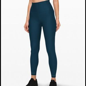 """NWT $148 LULULEMON Zoned In Tight, 27"""", blue, 4"""